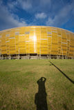 Arena Football Stadium in Gdansk, Poland. GDANSK, POLAND - SEPTEMBER 19: PGE Arena which is a newly built football stadium for Euro 2012 Championship. The Royalty Free Stock Photos