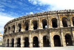 arena france roman nimes Arkivfoto