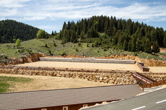 Arena Gheile Gradistei do Biathlon Imagem de Stock