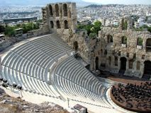 Arena greca del teatro Fotografia Stock