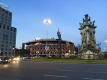 Arena i i stadens centrum Barcelona, Spanien Royaltyfria Foton