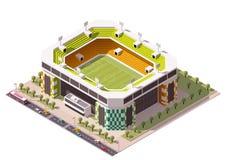Arena isométrica del fútbol del vector