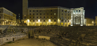Arena lecce by night Royalty Free Stock Photos