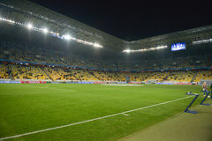 Arena-Lviv the match FC Shakhtar-FC Bayern. UEFA Champions League Stock Image