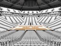 Arena moderna grande del baloncesto con los asientos blancos Fotografía de archivo libre de regalías