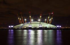 A arena 02 na noite Imagem de Stock