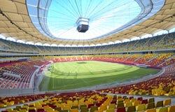 Arena nacional de Bucarest ante liga del Europa Foto de archivo