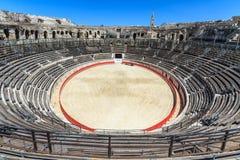 Arena Nimes da luta de Bull foto de stock royalty free