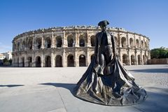 Arena Nimes Francia Fotos de archivo libres de regalías