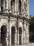 Arena of Nîmes architecture detail, France Stock Photo