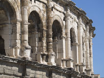 Arena of Nîmes architecture detail, France Royalty Free Stock Photos