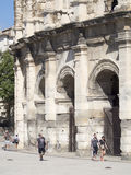 Arena of Nîmes architecture detail, France Royalty Free Stock Photo