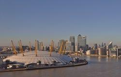 A arena o2 em Londres fotos de stock