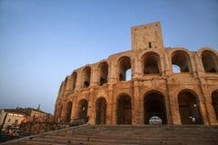 Arena och Roman Amphitheatre Arkivfoto