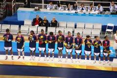 Arena olimpica della sfera del cestino di Pechino messa in servizio fotografie stock libere da diritti