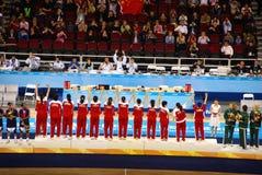 Arena olimpica della sfera del cestino di Pechino messa in servizio fotografia stock libera da diritti