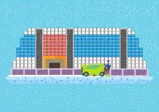 Arena piana dell'hockey di vettore Immagine Stock Libera da Diritti