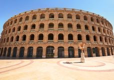 Arena Plaza de Toros dell'arena a Valencia fotografia stock libera da diritti