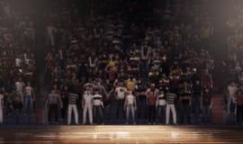 Arena profesional de la cancha de básquet limpia Fotos de archivo