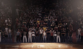 Arena profissional do campo de básquete limpa Fotos de Stock