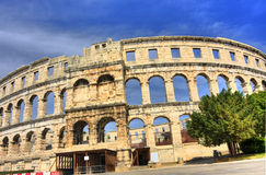 Arena in Pula. Ancient arena in Pula, Croatia Royalty Free Stock Photography