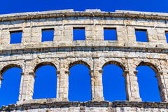 Arena in Pula. Roman time arena in Pula, detail, Croatia. UNESCO world heritage site Royalty Free Stock Photography