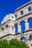 Arena in Pula. Roman time arena in Pula, detail, Croatia. UNESCO world heritage site Stock Images