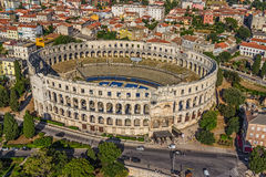 Arena in Pula. Roman time arena in Pula, Croatia. UNESCO world heritage site Royalty Free Stock Photo