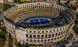 Arena in Pula. Roman time arena in Pula, Croatia. UNESCO world heritage site Royalty Free Stock Images