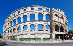 Arena Pula. Roman time arena in Pula, detail, Croatia. UNESCO world heritage site Stock Photography