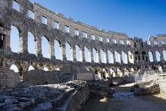 Arena in Pula. Ancient Roman Amphitheater in Pula, Croatia Royalty Free Stock Photography