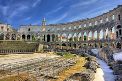 Arena in Pula. Ancient arena in Pula, Croatia Stock Photos