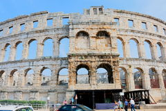 Arena Pula, Croatia. Gladiator and concert Arena in Pula, Ancient Roman Architecture, Museum in open Royalty Free Stock Images