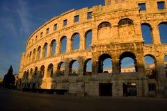 Arena in Pula Kroatië Royalty-vrije Stock Foto's