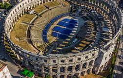Arena, Pula royalty free stock images