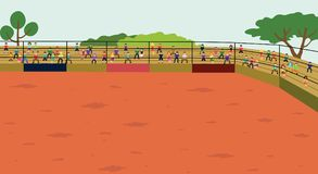 Arena. Rodeo background. The Arena. The Rodeo background Vector illustration Royalty Free Stock Photography