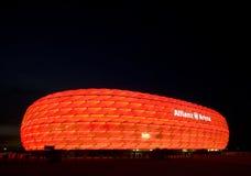 Arena roja de Allianz Imágenes de archivo libres de regalías