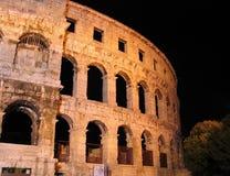Arena romana antica nei PULA, Croatia Fotografia Stock
