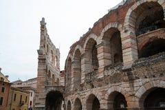 Arena romana antiga do amphitheatre em Verona, Italy imagens de stock