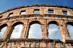Arena romana antiga nos Pula, Croatia imagens de stock