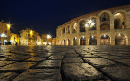 Arena romana antigua del amphitheatre en Verona, Italia Imagen de archivo