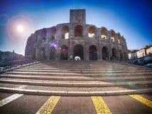 Arena romana de Arle, França Imagens de Stock