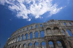 Arena romana en pulas Imagen de archivo libre de regalías