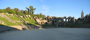 Arena romana en Saintes Imagenes de archivo