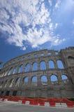 Arena romana nos Pula Fotos de Stock