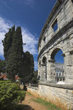 Arena romana nos Pula Foto de Stock Royalty Free