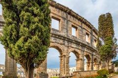 A arena romana nos Pula, Croácia imagem de stock royalty free