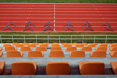 Arena running track Stock Photo