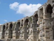 Arena's van Arles in de Provence stock foto's