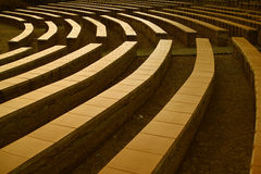 Arena seats arranged in semicircle Royalty Free Stock Photos